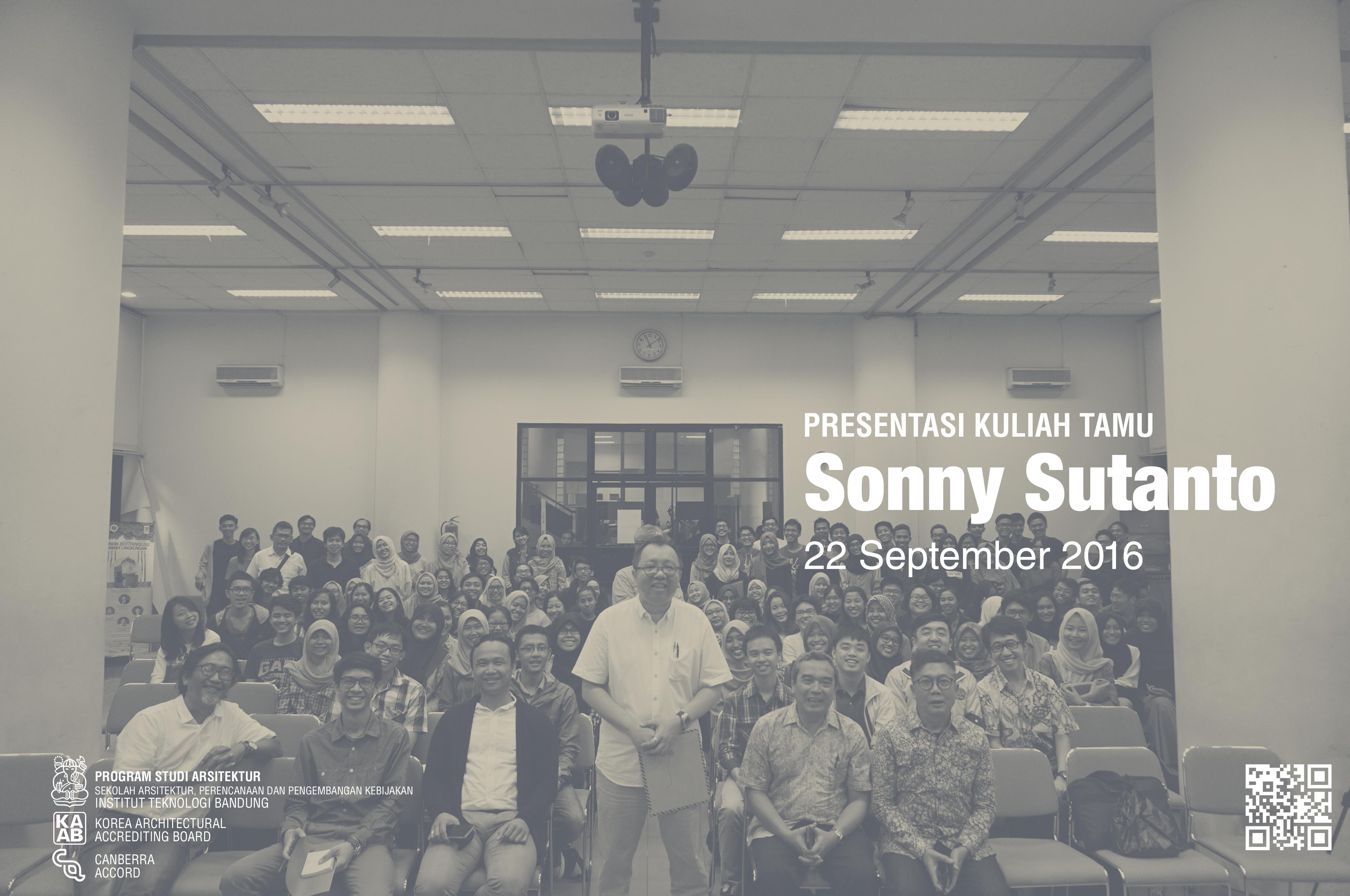 Kuliah Tamu – Sonny Sutanto