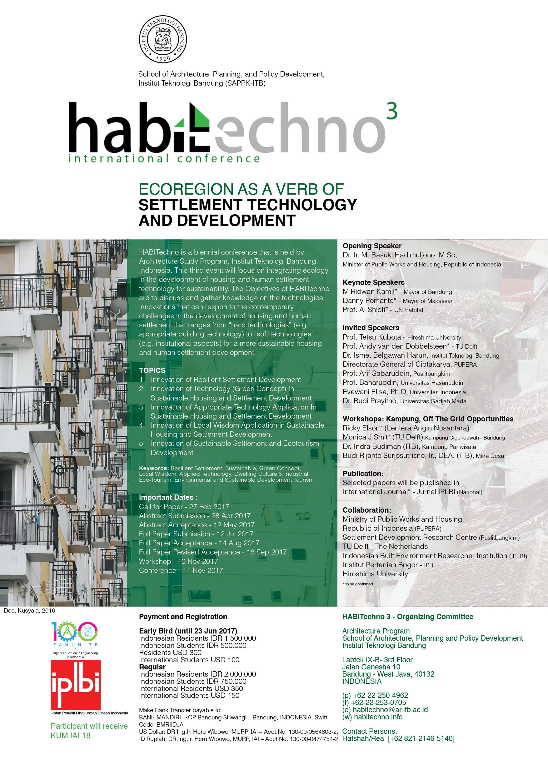 HABITECHNO 3 INTERNATIONAL CONFERENCE