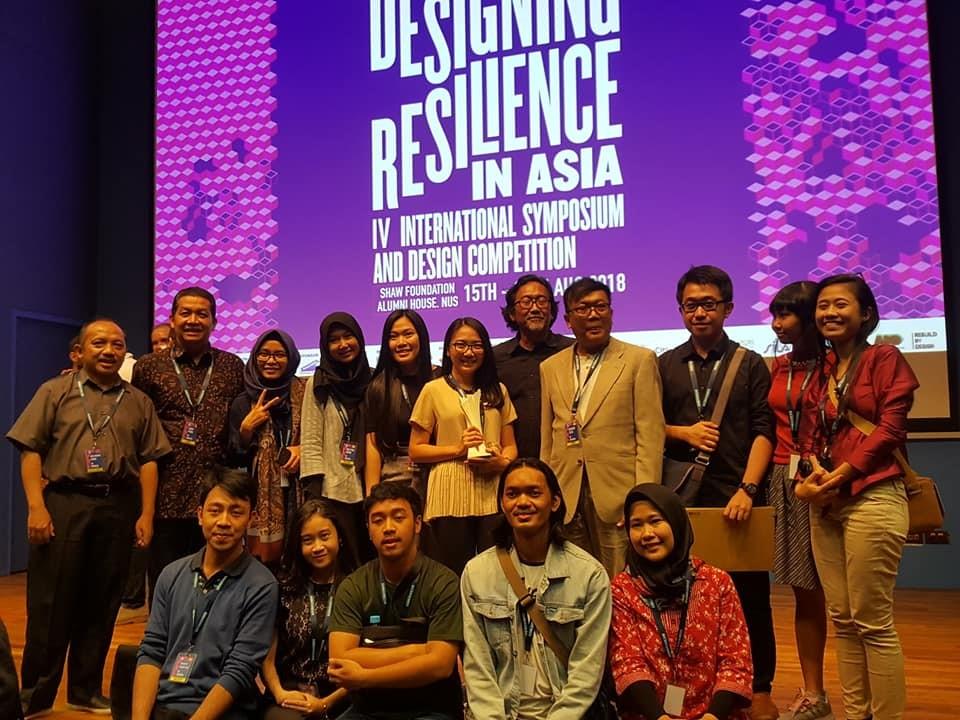 Juara Kategori Urban Design dan Juara Harapan Kategori Arsitektur, Design Resilience in Asia 2018