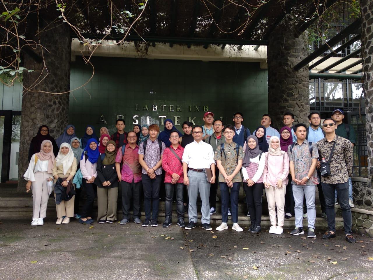 Kunjungan dari Department of Architecture, Universiti Teknologi Brunei, 6 Maret 2019
