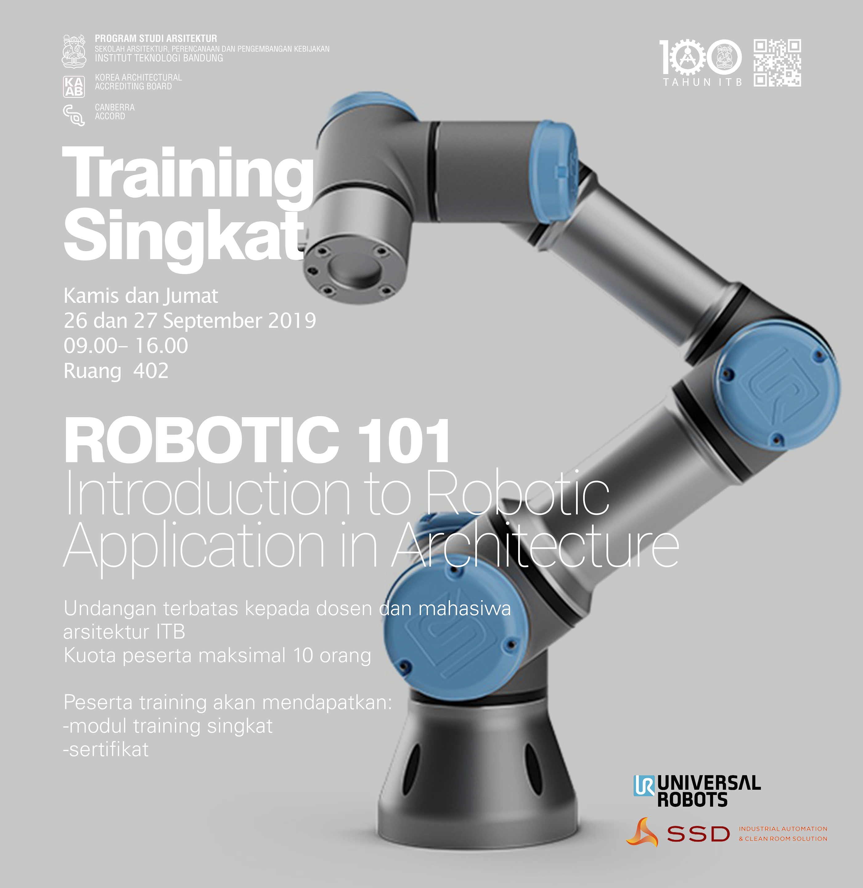 Training Singkat Robotic 101: Introduction to Robotic Application in Architecture