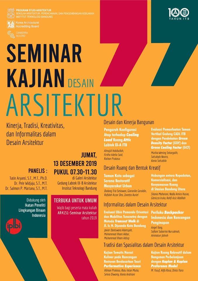 Seminar Kajian Desain Arsitektur, AR4151