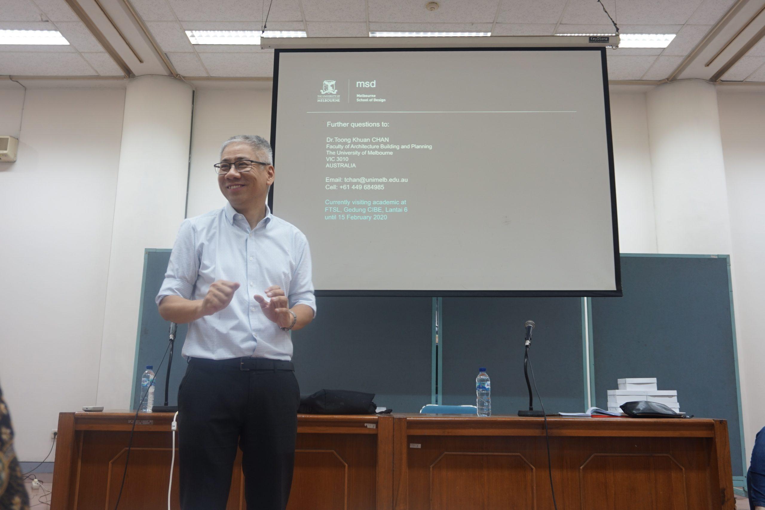 Kuliah Tamu 31 Januari 2020 – Dr. Toong-Kuan Chan