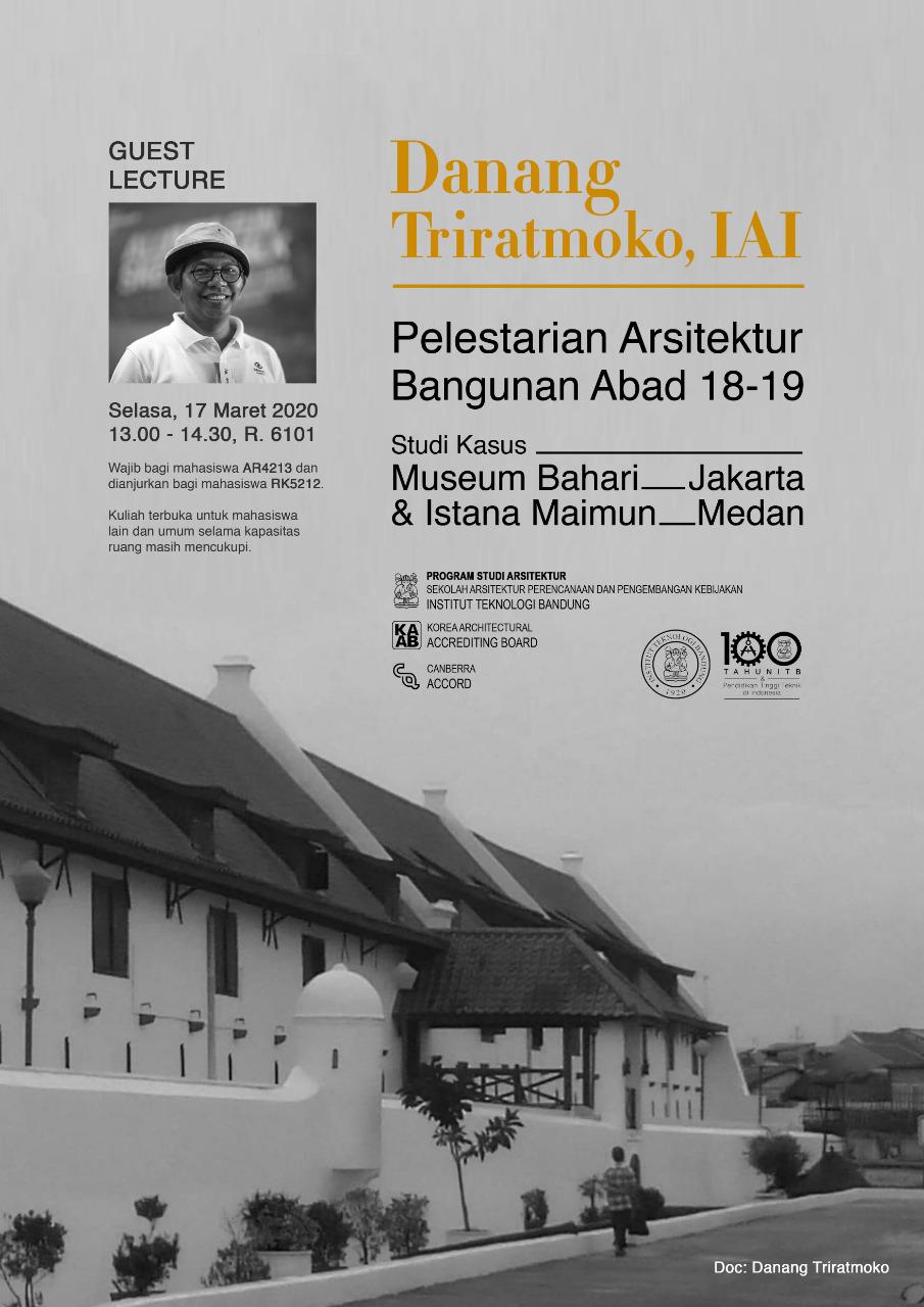 Kuliah Tamu 7 April 2020 – Danang Triratmoko