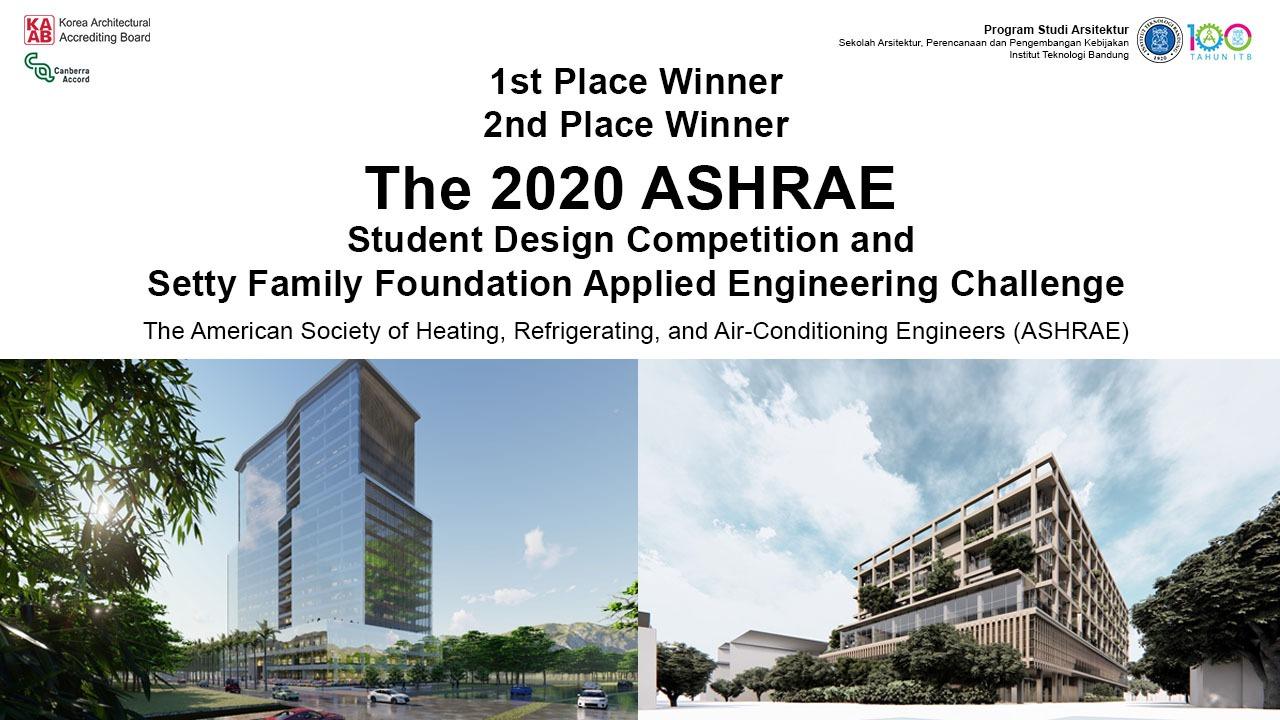 Juara 1 dan Juara 2 Kompetisi Internasional ASHRAE 2020
