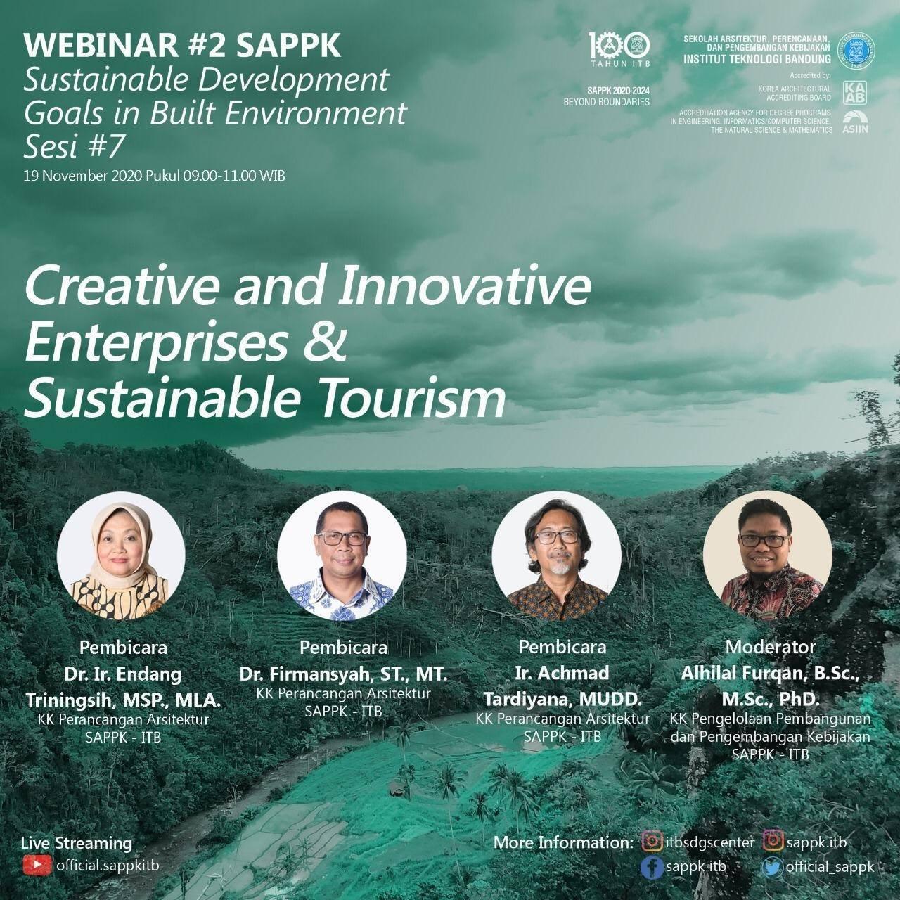 Sesi 7 – WEBINAR #2 SAPPK-SDGs in Built Environment