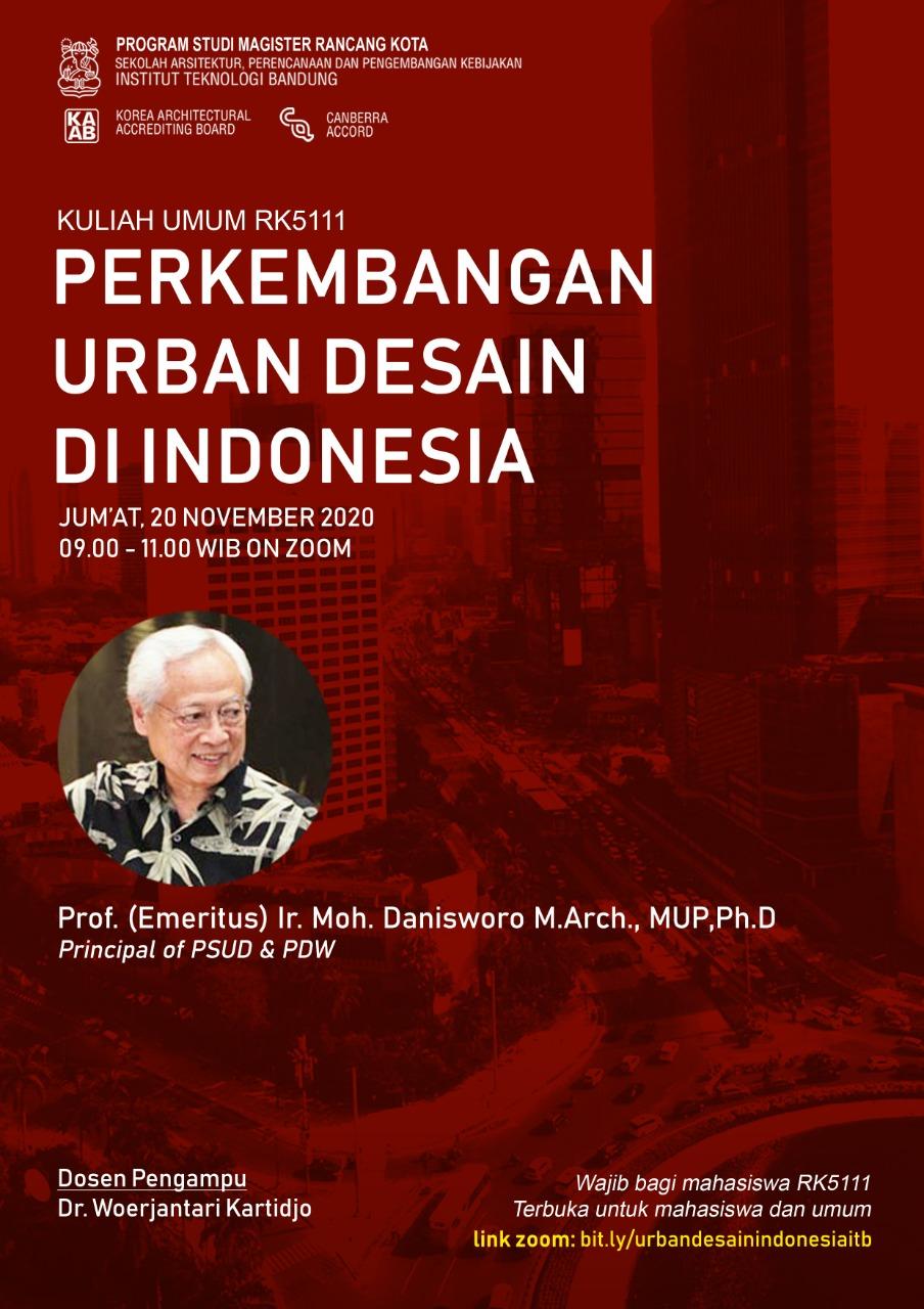 KULIAH UMUM RK5111-PERKEMBANGAN URBAN DESAIN DI INDONESIA