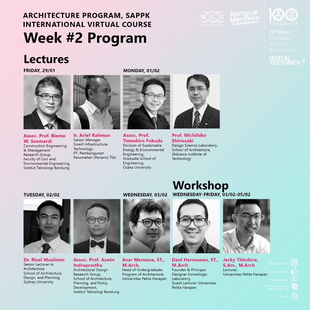 International Virtual Course Week #2 Program