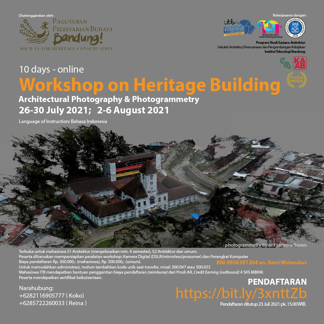 Workshop on Heritage Building : Architectural Photography & Photogrammetry