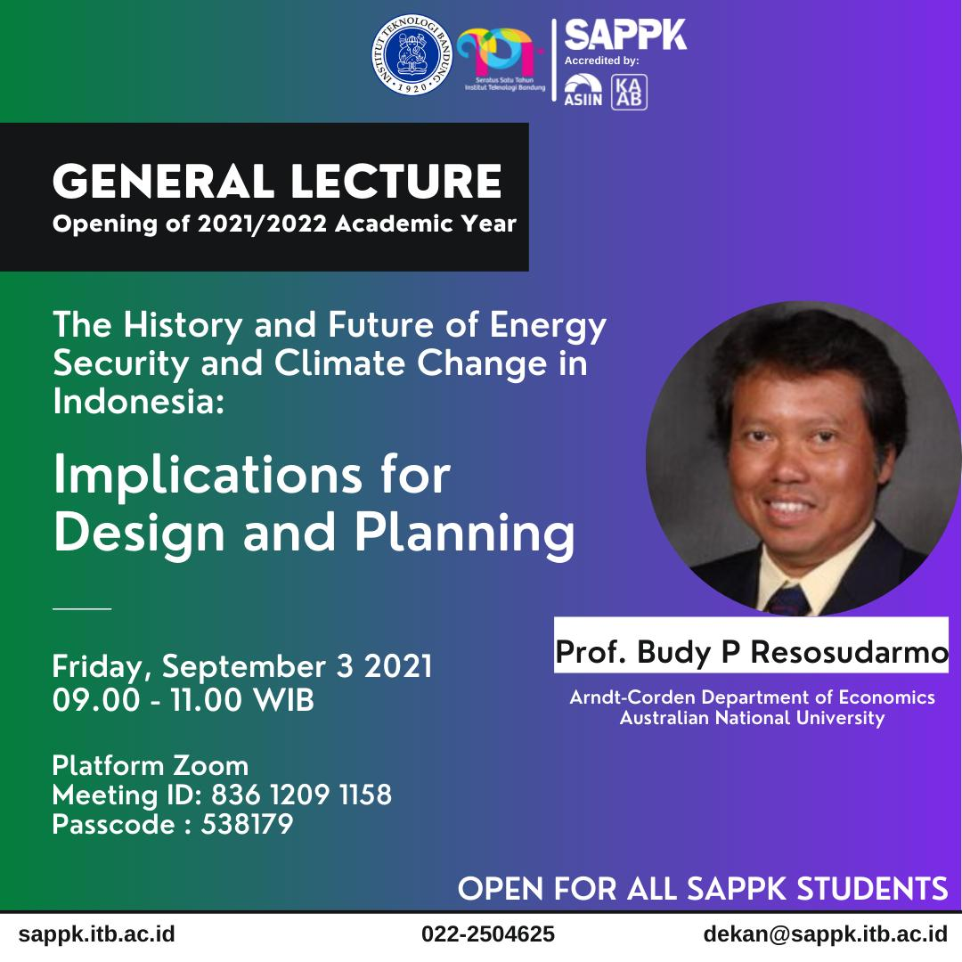 GENERAL LECTURE: Opening of 2021/2022 Academic Year